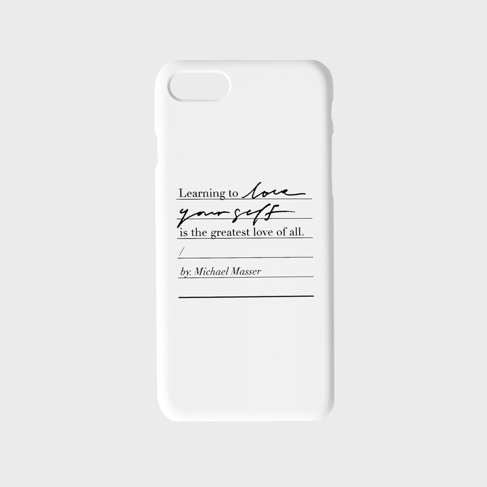 Love yourself phone case - White