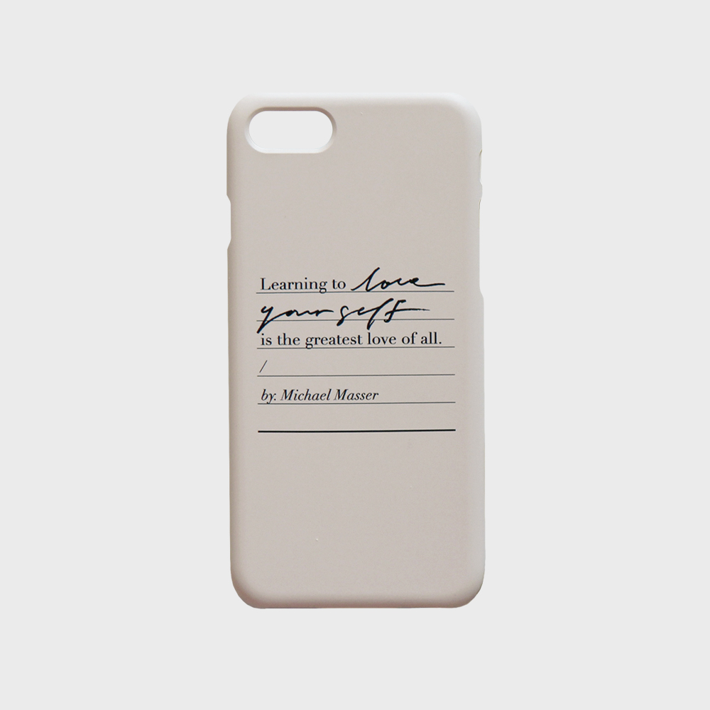 Love yourself phone case - Warm gray