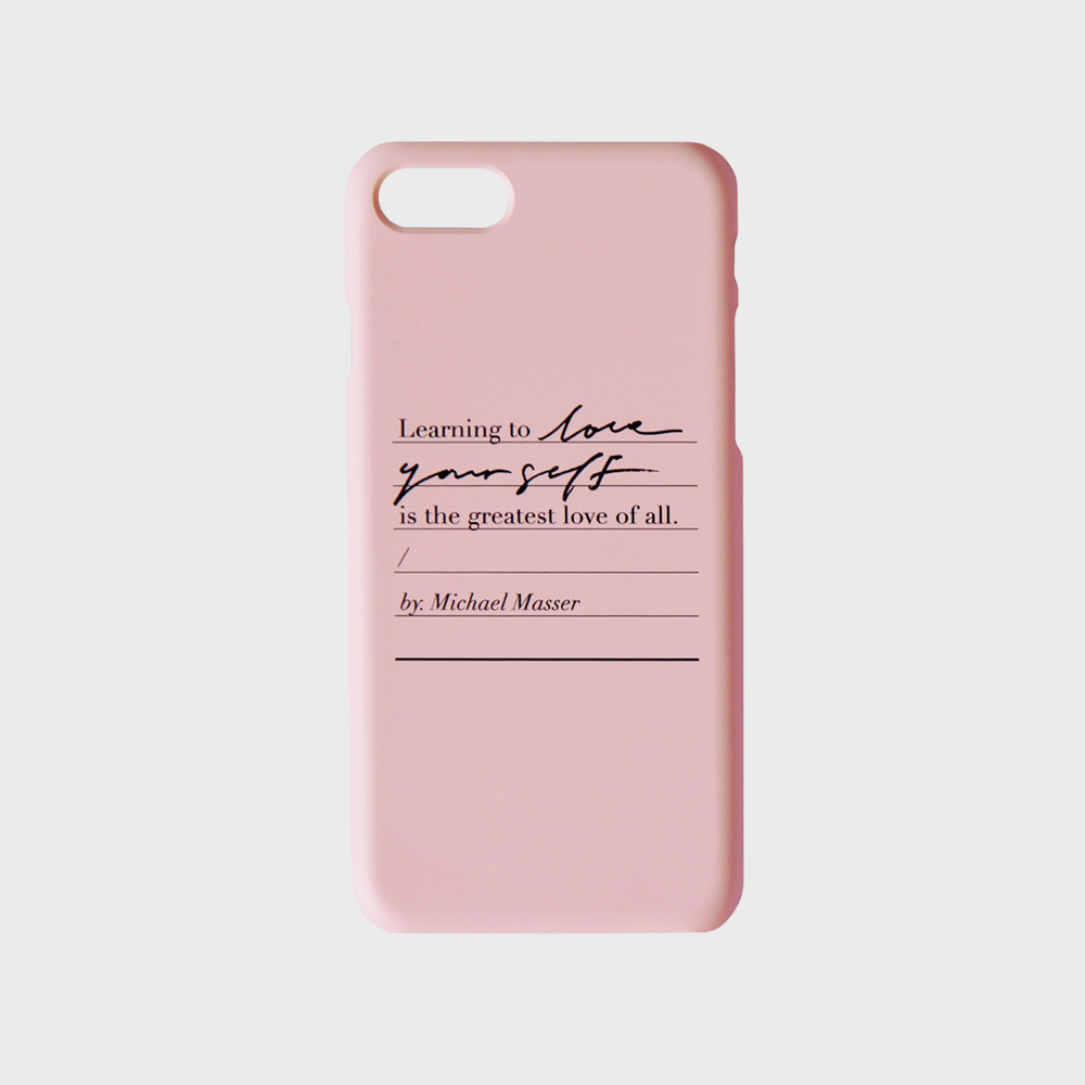 Love yourself phone case - Pink